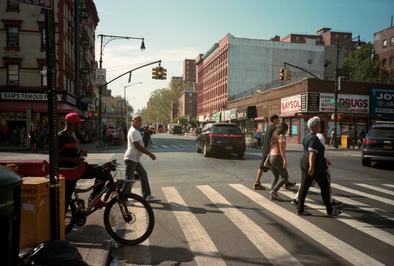 East Harlem, Street Scene, Lonely New York Photography Ioannis Koussertari.