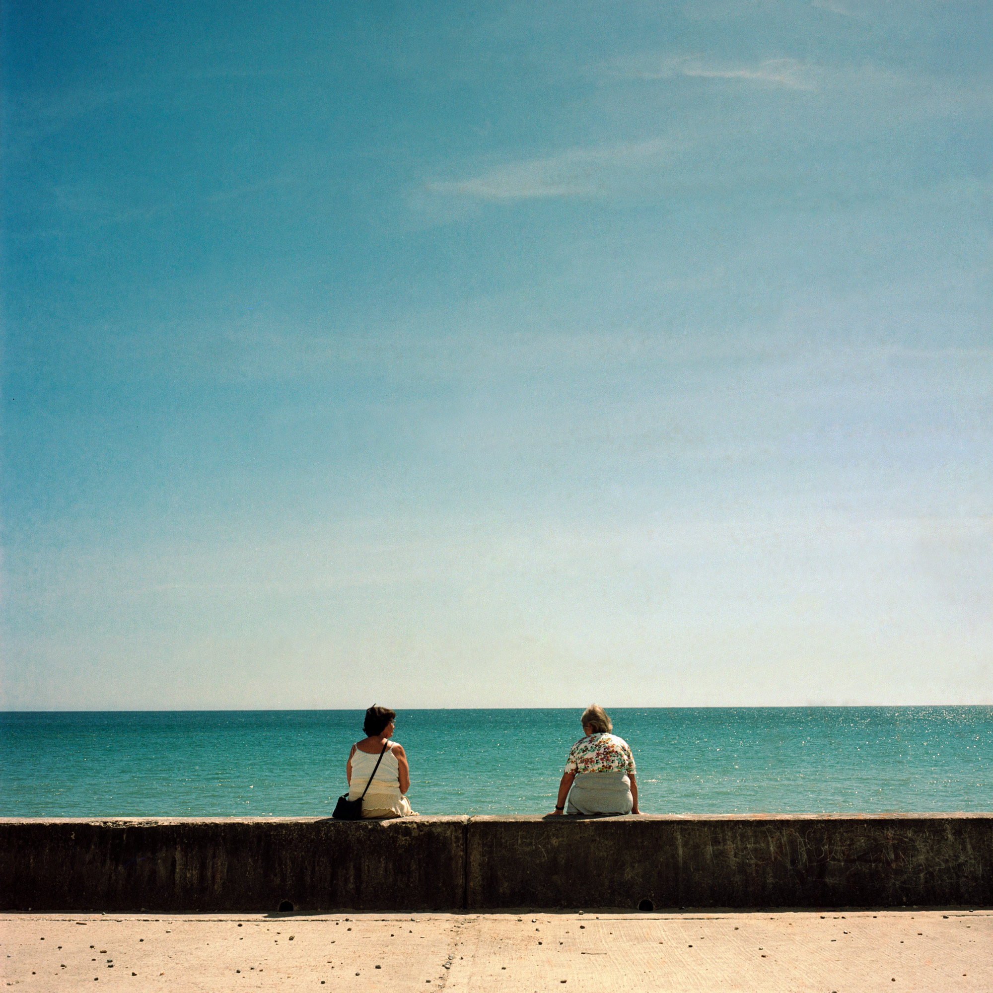 Two At Sea, Peacehaven Beach, Observations Series, Photography By Ioannis Koussertari 2020