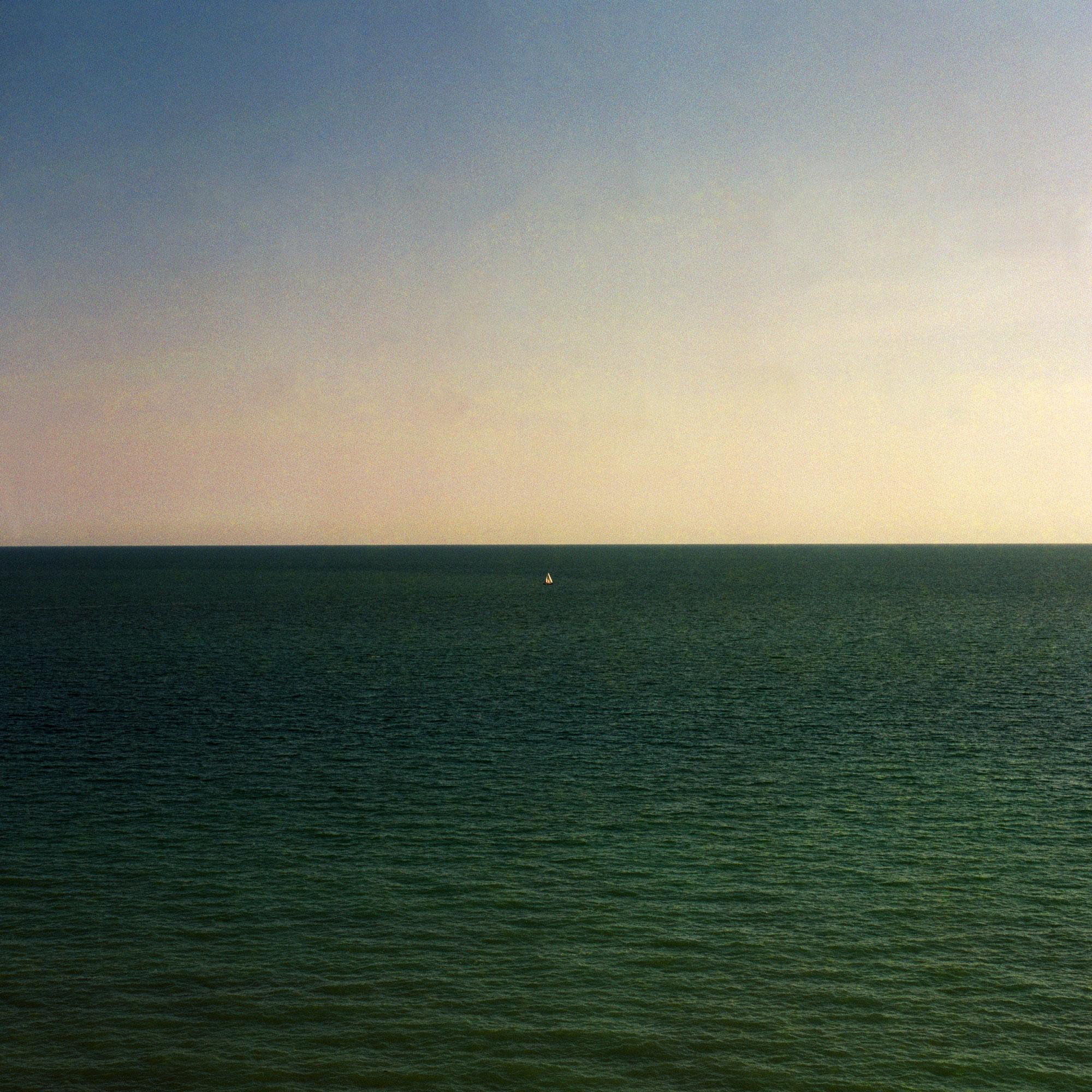 Sailing on the open sea. Seascape on film by ioannis koussertari.