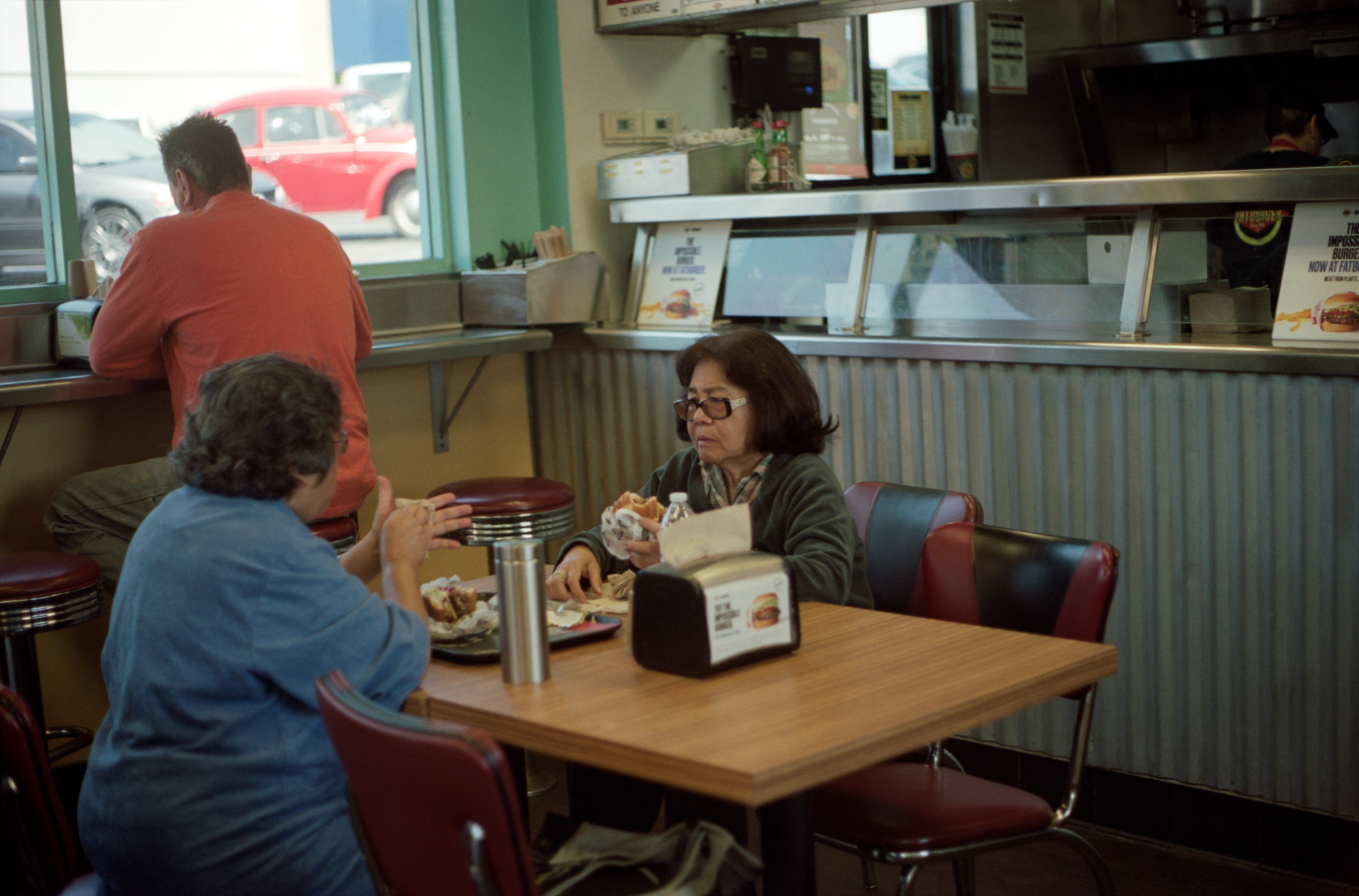 Diner Date,  Sunset Blvd, Los Angeles, Omg Your English, Photography by Ioannis Koussertari