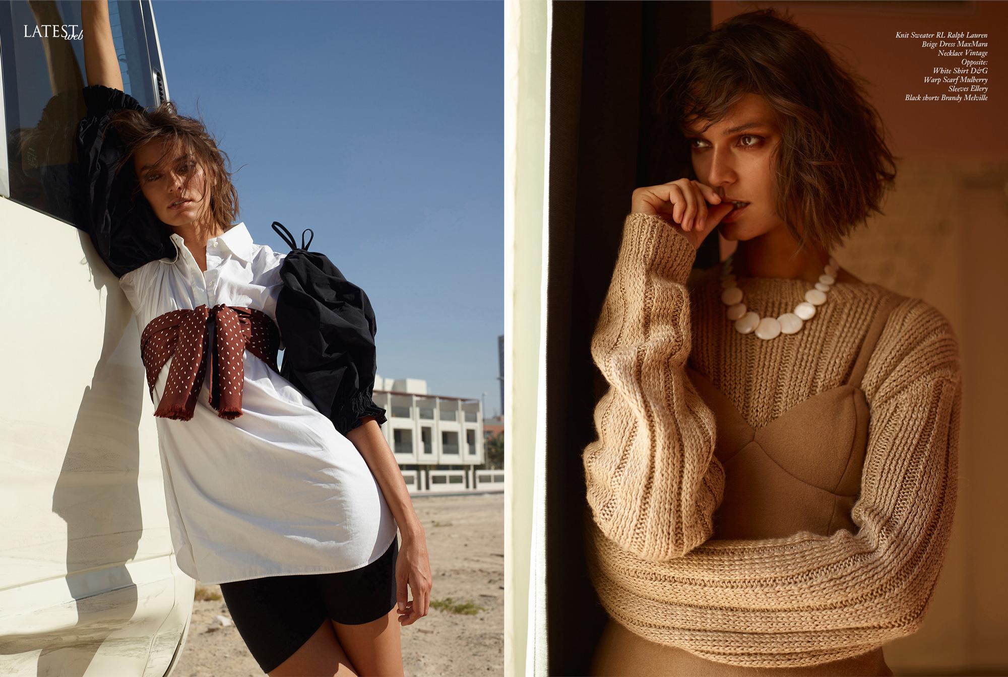 Memories, Klaudia Zdanowicz in Dubai editorial for Latest magazine. By Ioannis Koussertari