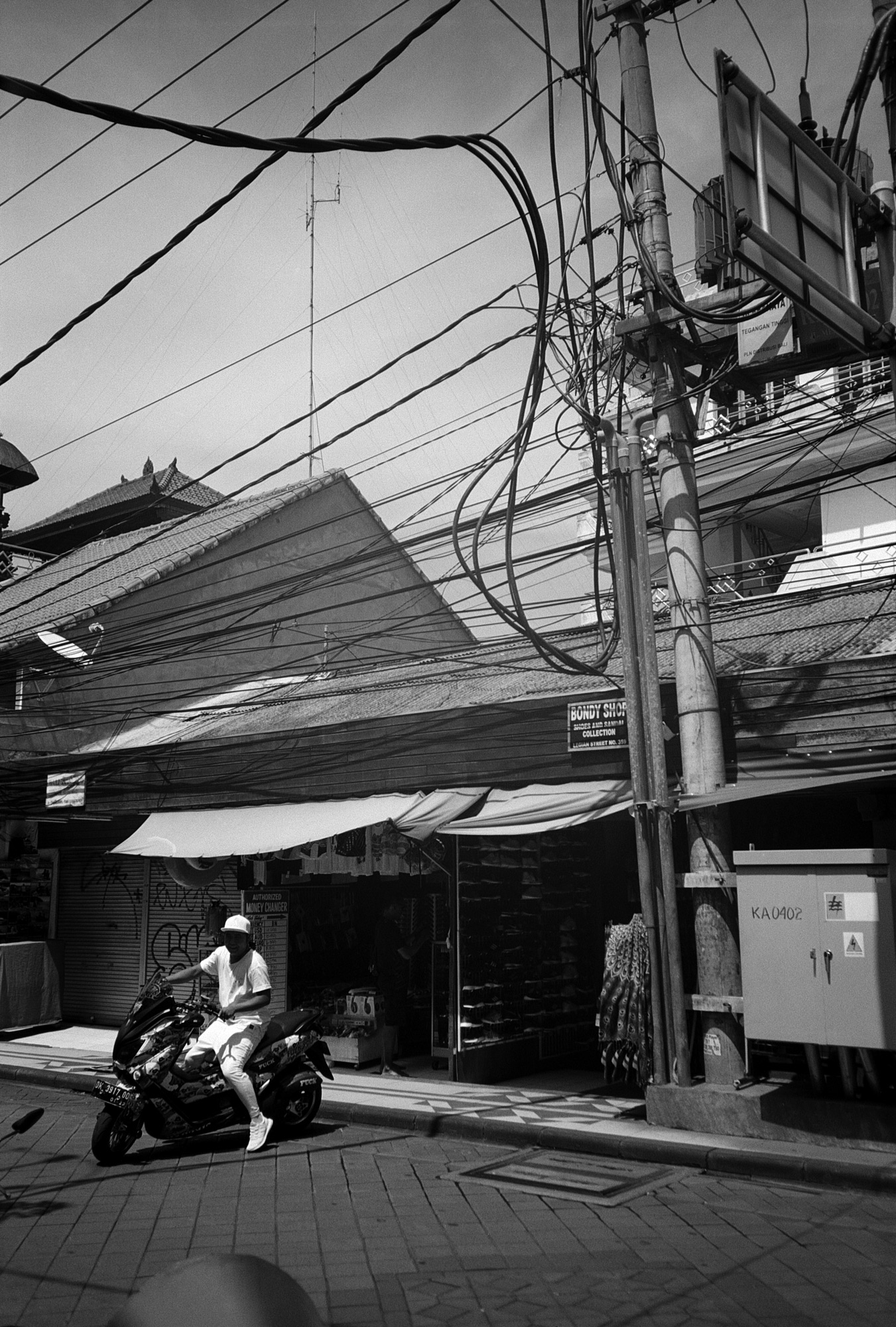 Biker, Kuta, Bali, Eastern Travels, Photography by Ioannis Koussertari