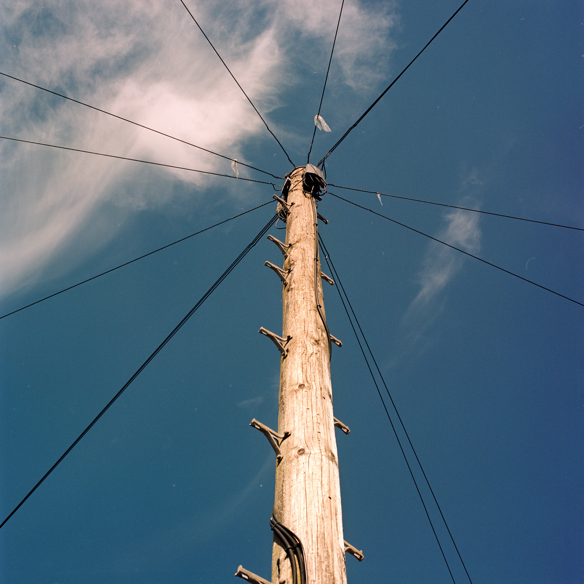 If I Climb Will I Touch The Sky, Telephone Pole, Observations Series, Photography by Ioannis Koussertari