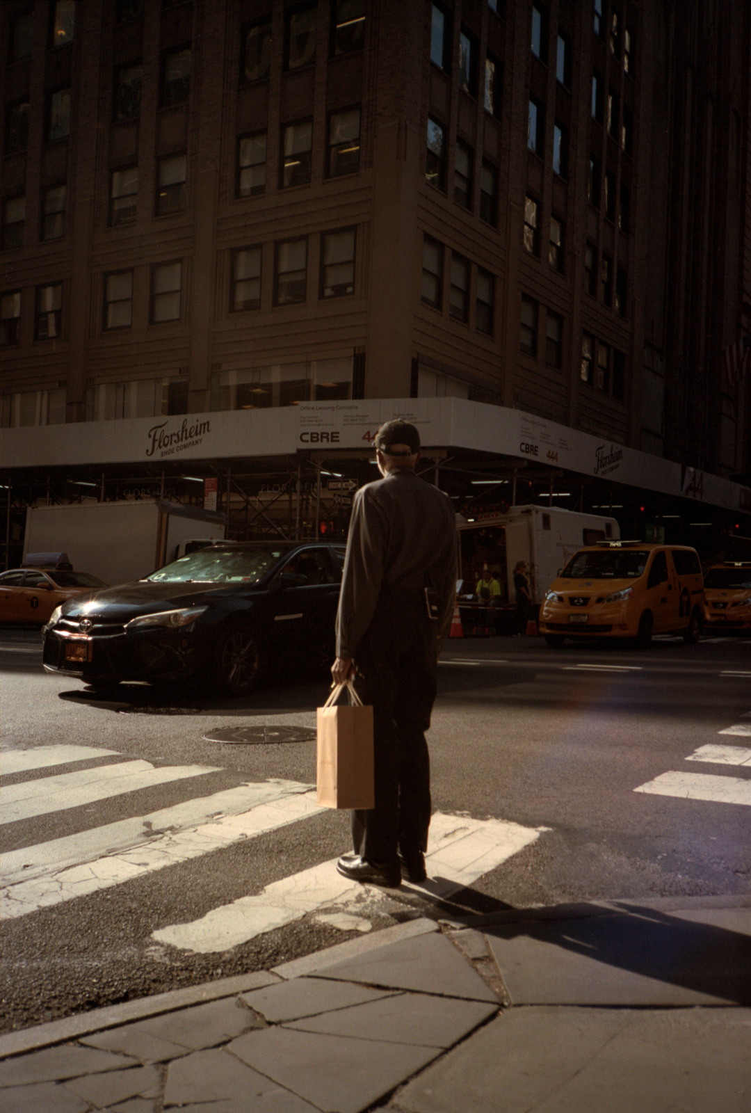 Awaiting Traffic On Madison Avenue, Lonely New York, Photography by Ioannis Koussertari