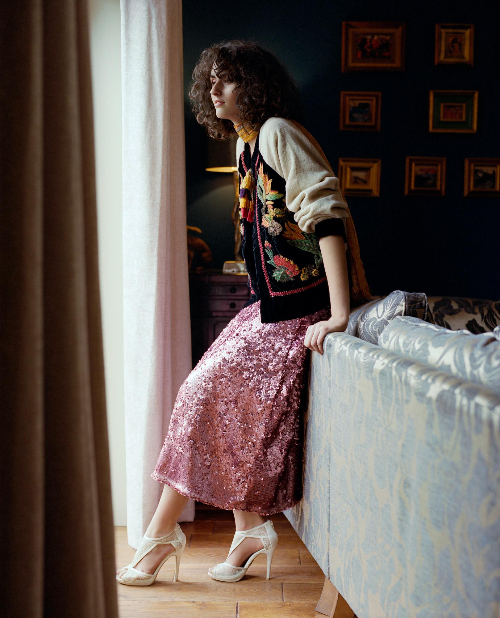 Leila Zandonai in fashion story for Promo Magazine, photography by Ioannis Koussertari