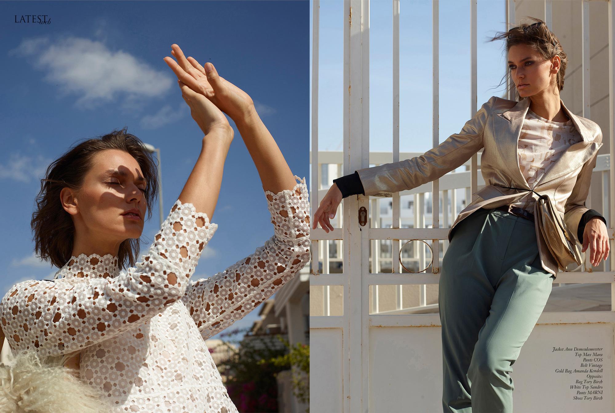 Memories, Klaudia Zdanowicz, model on the streets of Dubai in fashion editorial for Latest magazine. By Ioannis Koussertari