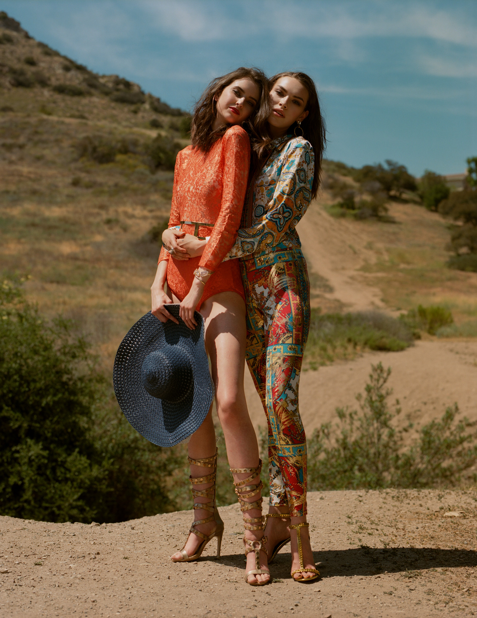 Into The Wild, Cristal Chavez and Emily Rogers in fashion editorial for Promo Magazine by Ioannis Koussertari