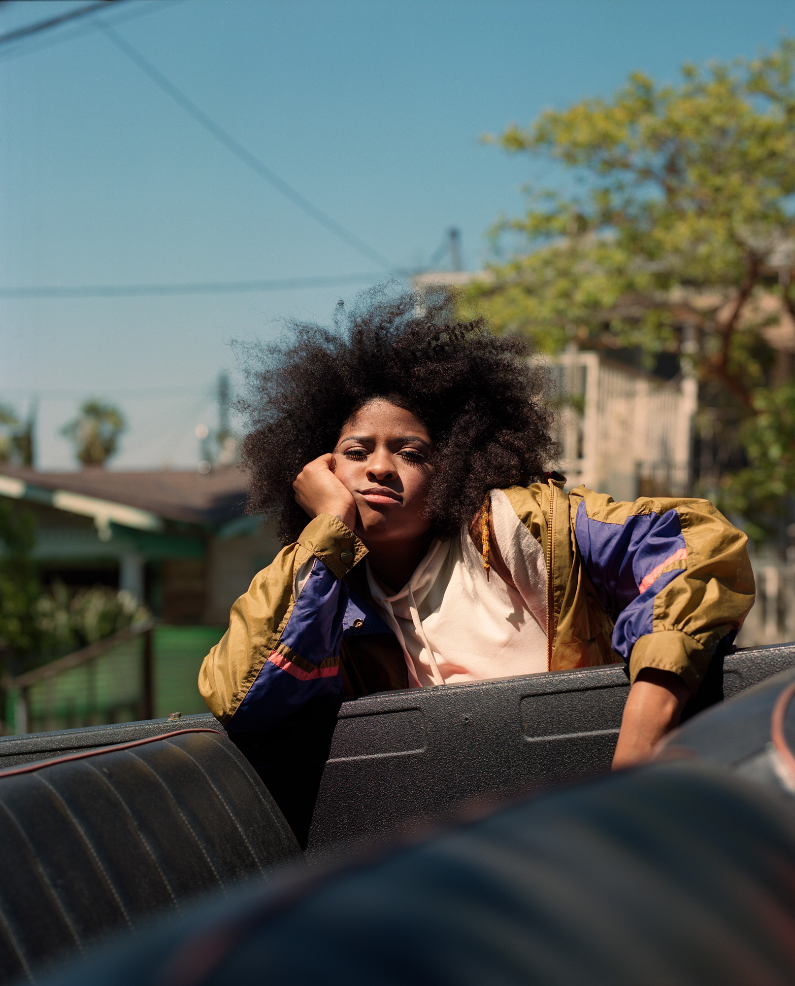 Rebel Rae, Singer portrait from a truck in Los Angeles, 2017 by ioannis Koussertari.