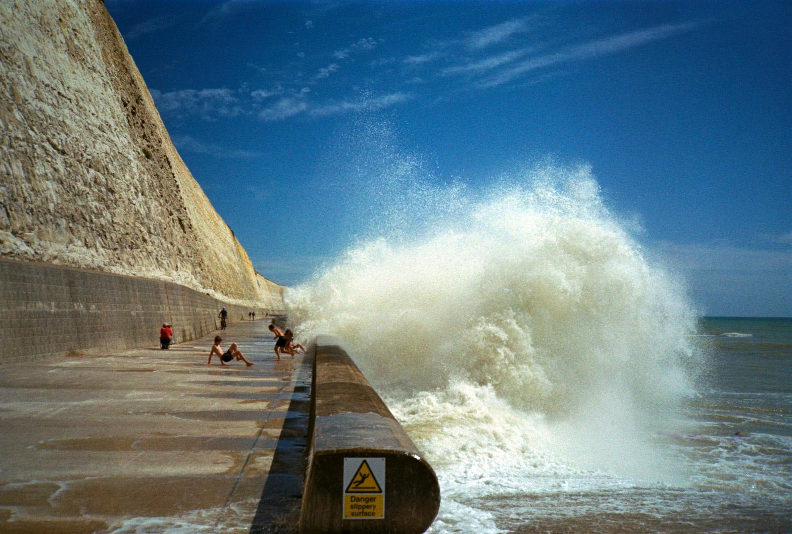 Kids Catching Waves, Coastal Seas, Taken while swimming in the sea, Photography On Kodak Film By Ioannis Koussertari
