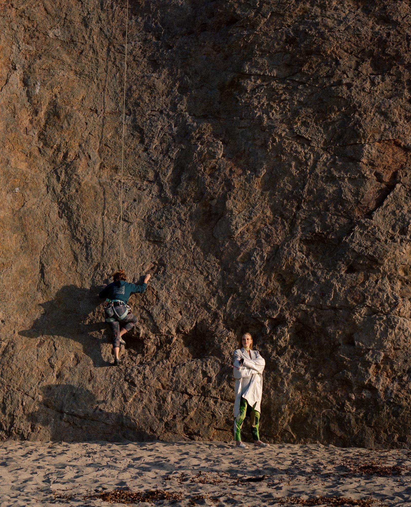 Cliff Valley, Point Dume, Malibu Beach, Editorial For LadyGunn Magazine, Featuring Piene Burgers, photography  by Ioannis Koussertari