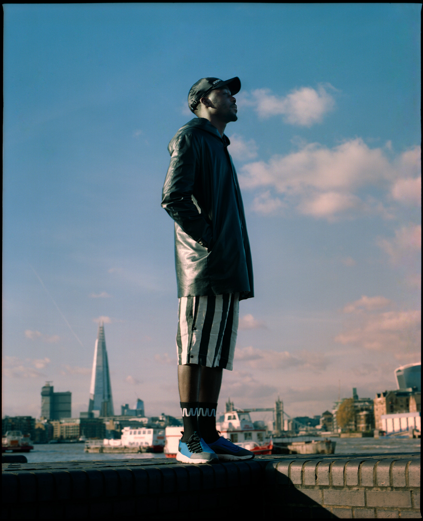 What We Wear AW18, Press, Featuring Emmannualle Lawel overlooking The Thames London, Photography by Ioannis Koussertari.