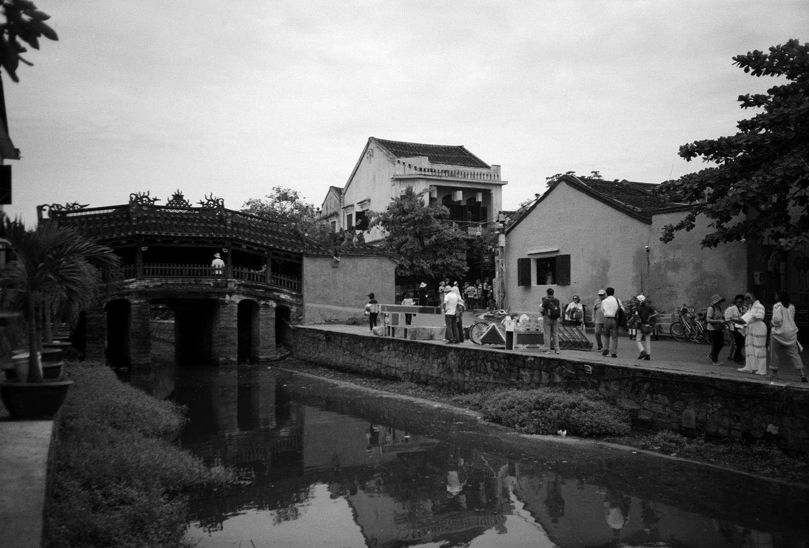 Japanese Covered Bridge, along the riverfront, Hoi An Vietnam,  Eastern Travels, photography by ioannis koussertari