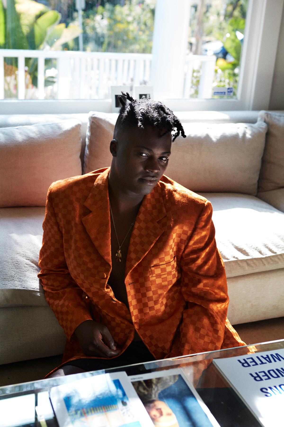 Bipolar Sunshine, singer writing lyrics at home in Los Angeles 2017. Photography By Ioannis Koussertari