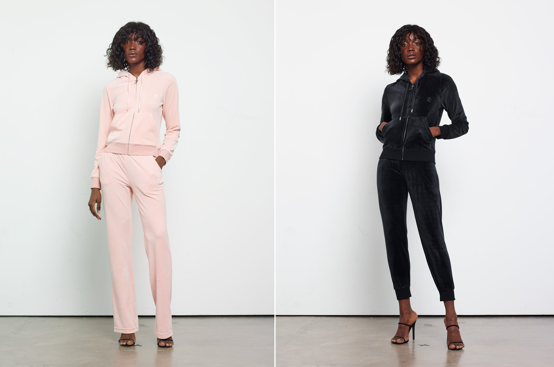 Juicy Couture SS20 online advertising featuring Daberechi Ukoha-Kalu. Photography by Ioannis Koussertari
