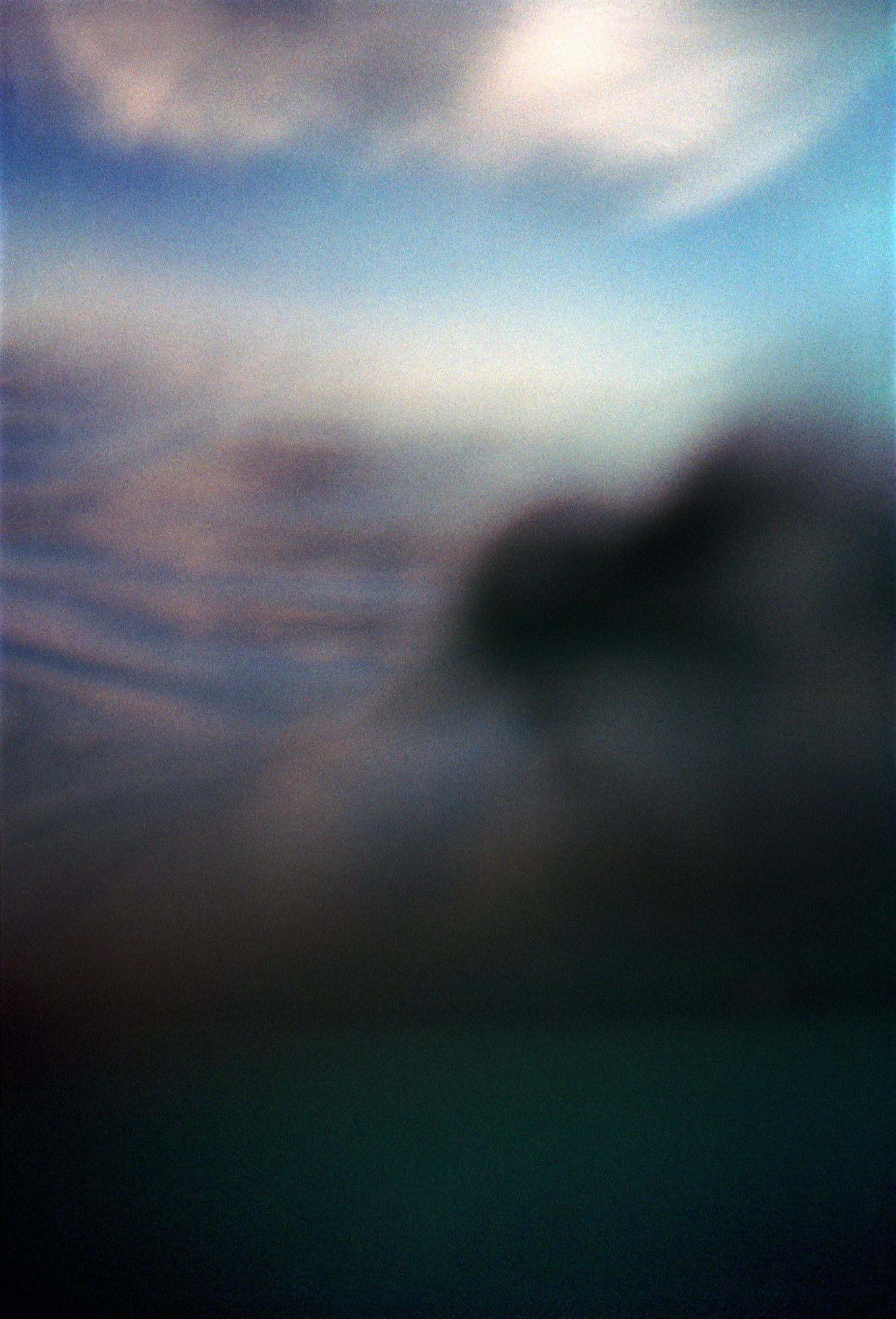 Coastal Seas Abstract, Image was photographed while swimming in the sea at Peacehaven beach in the South East of England. Part of a wider Coastal Seas series. Using a Yashica T4 point and shoot.