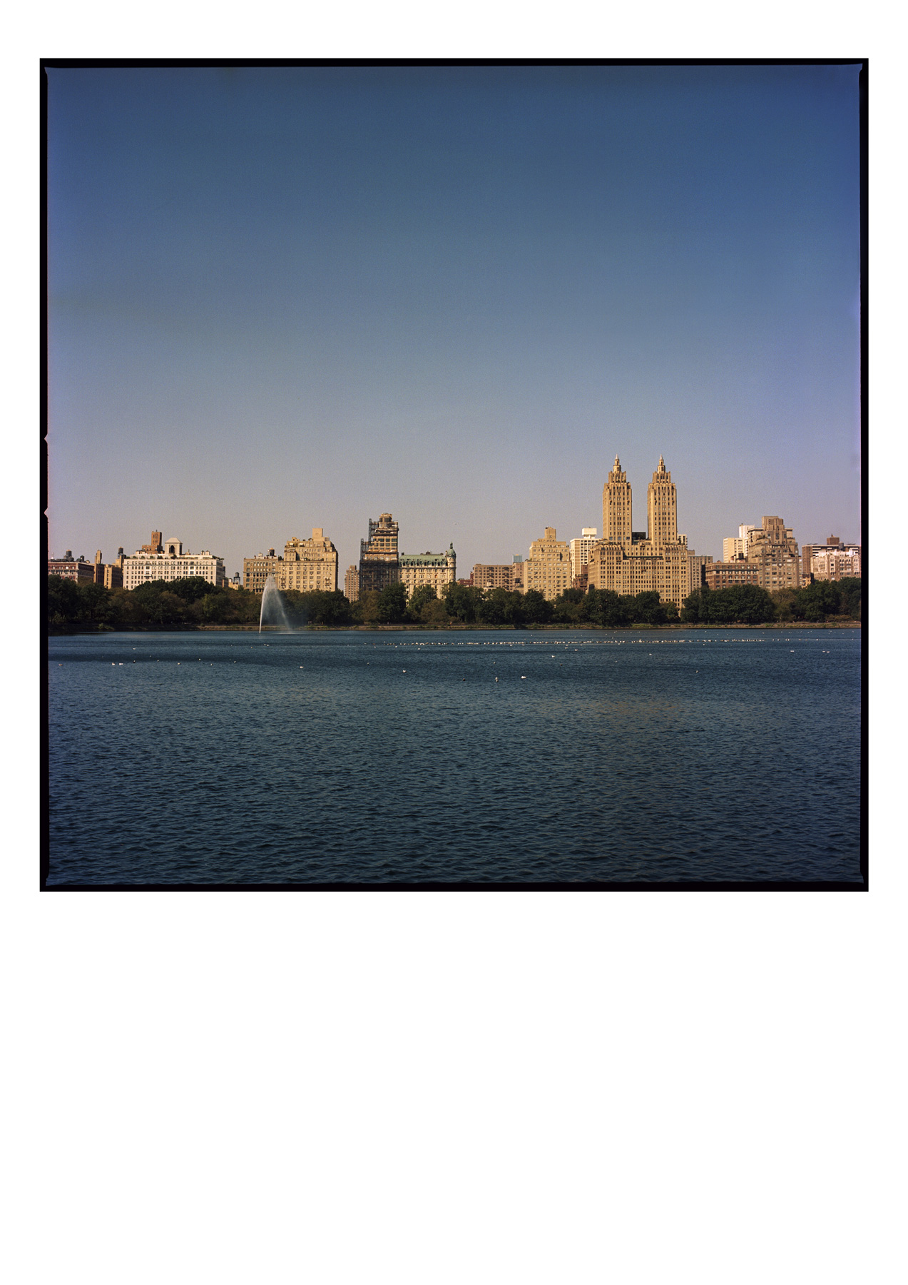 Central Park Reservoir. (Jacqueline Kennedy Onassis Reservoir) This photograph was taken on Kodak Portra 160 film in October 2019 in New York. The image scanned from negative and printed on matt archival paper using pigment inks. Archival Inkjet print using colour pigment Epson inks. On a Matt finish satin paper 10x8in print (20.3cm x 25.4cm) Medium weight 190 Limited edition print £100 GBP