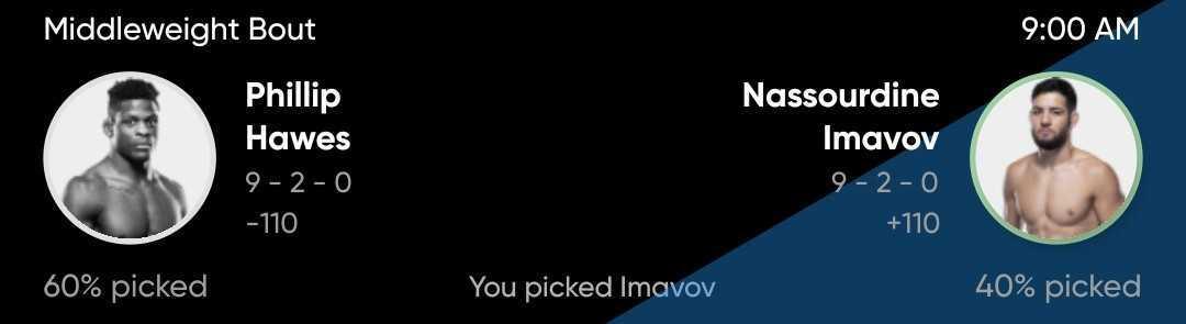 Adam Martin picks Nassourdine Imavov to win over Philip Hawes at UFC Vegas 19