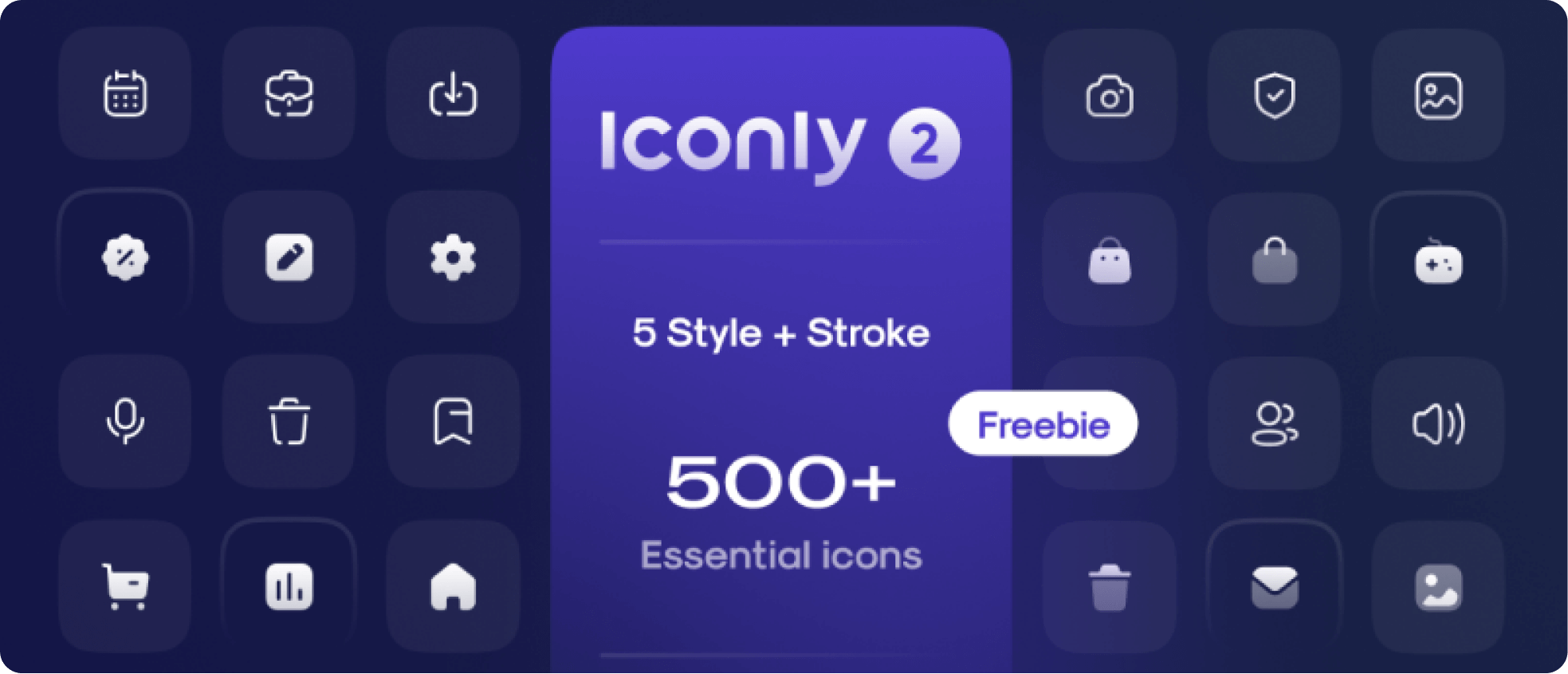 Sample icons for Iconly 2 icon set.