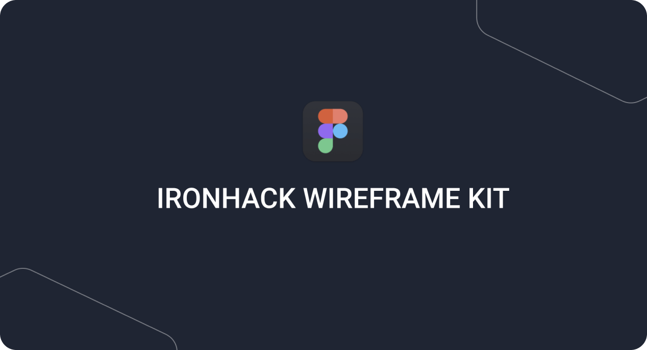Text stating Ironhack Wireframe Kit.