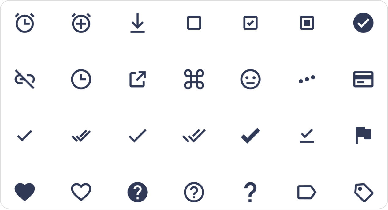 Icon examples from the Cool Icons free icon pack.