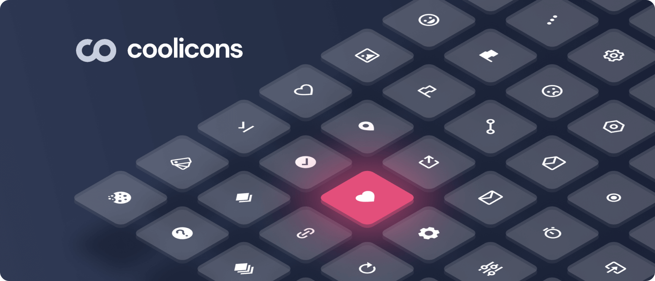Coolicons icon pack examples.