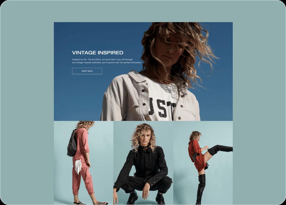 Modnikky fashion landing page sample screenshots.