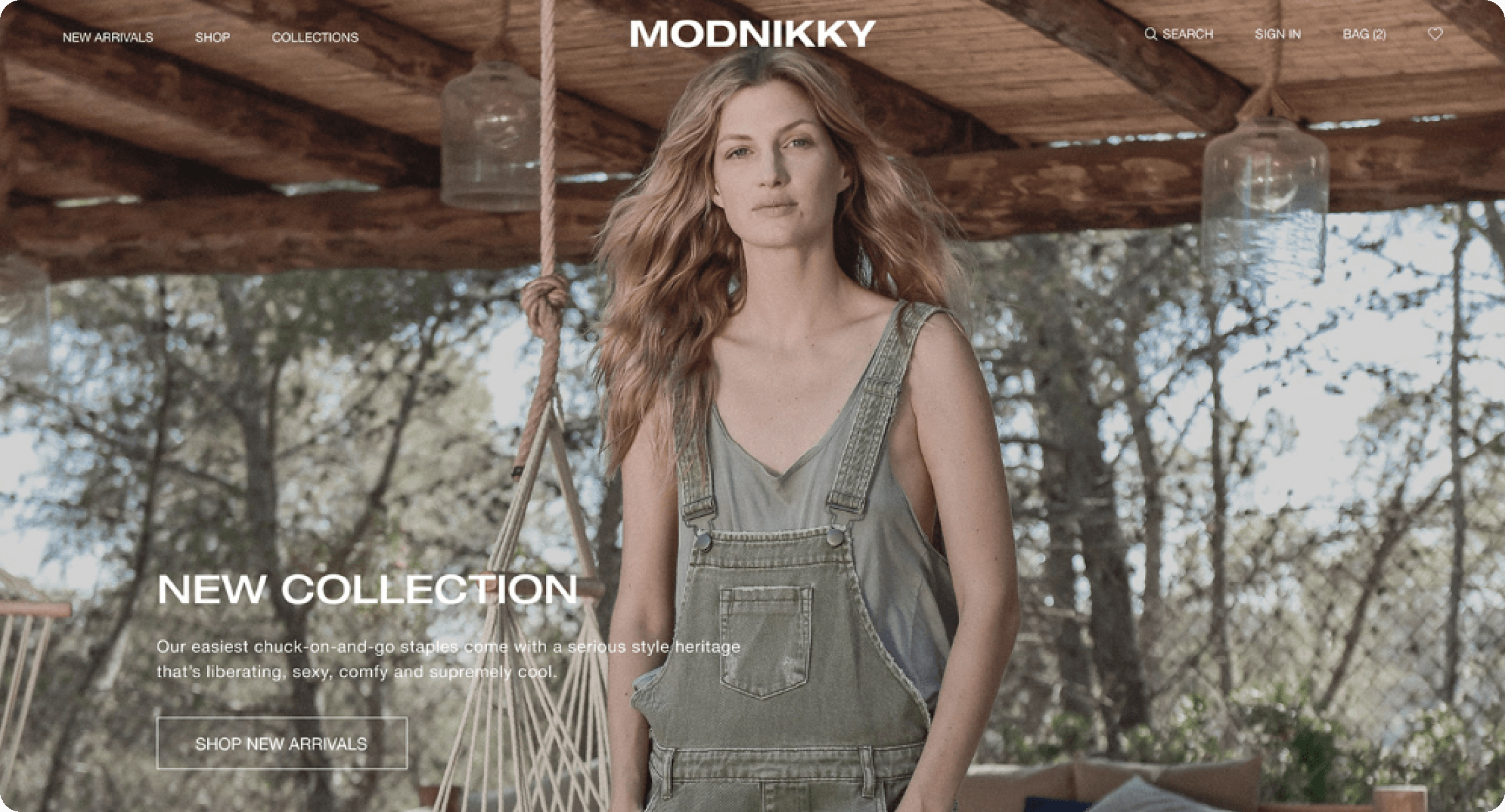 Woman in fashionable clothes from Modnikky fashion template.