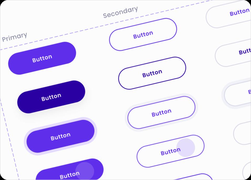 Pegasus Design System button components.