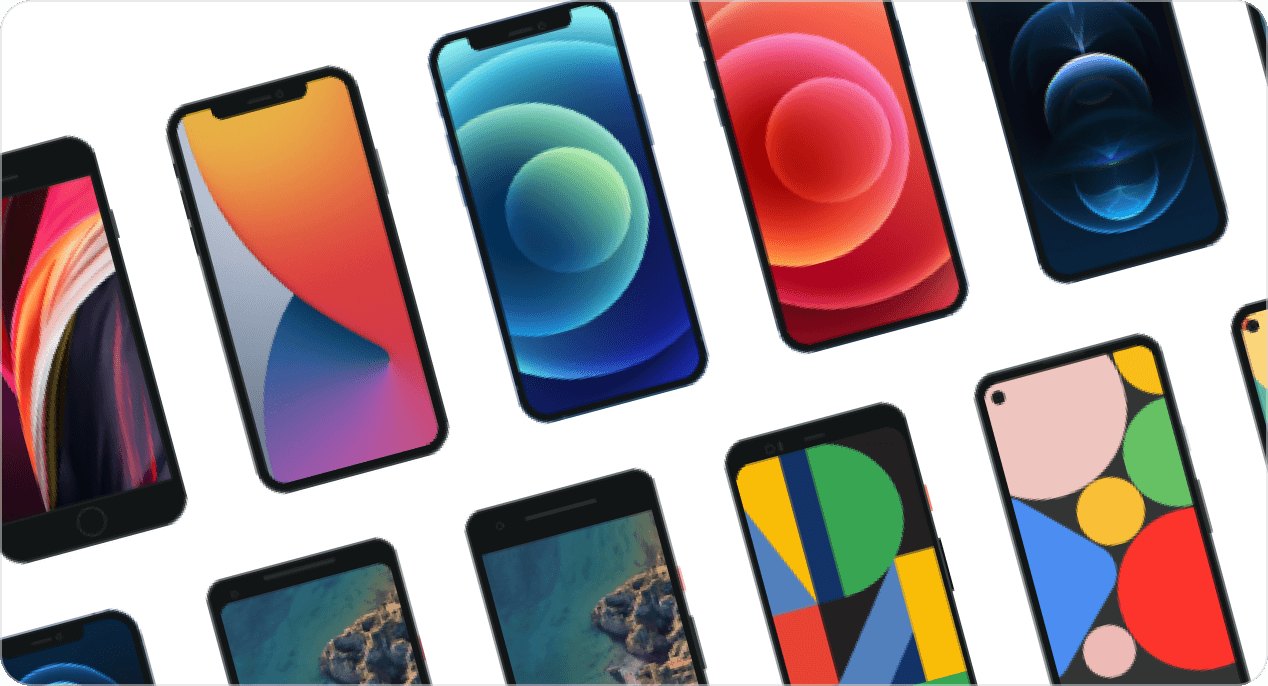 Selection of high quality mobile phone mockups.