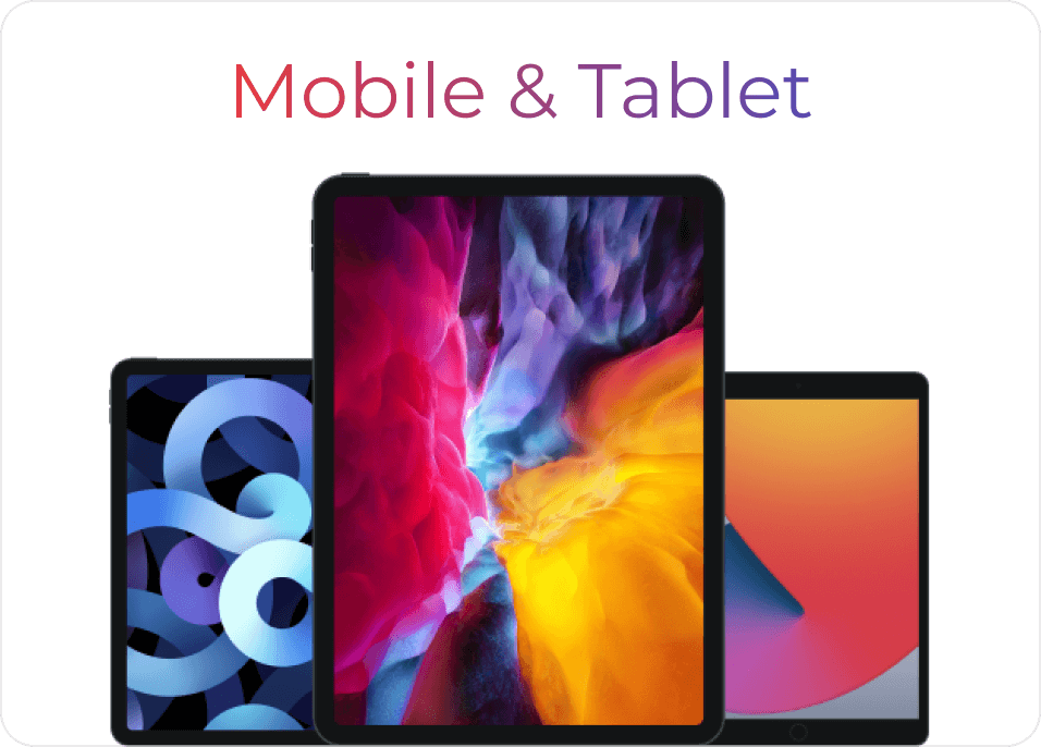 Selection of high quality tablet mockups.