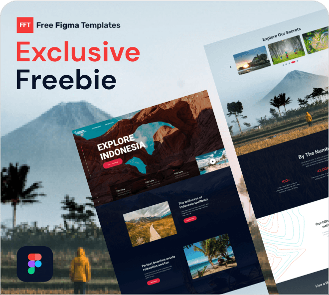 Exclusive Freebie, explore Indonesia travel holiday landing page examples.