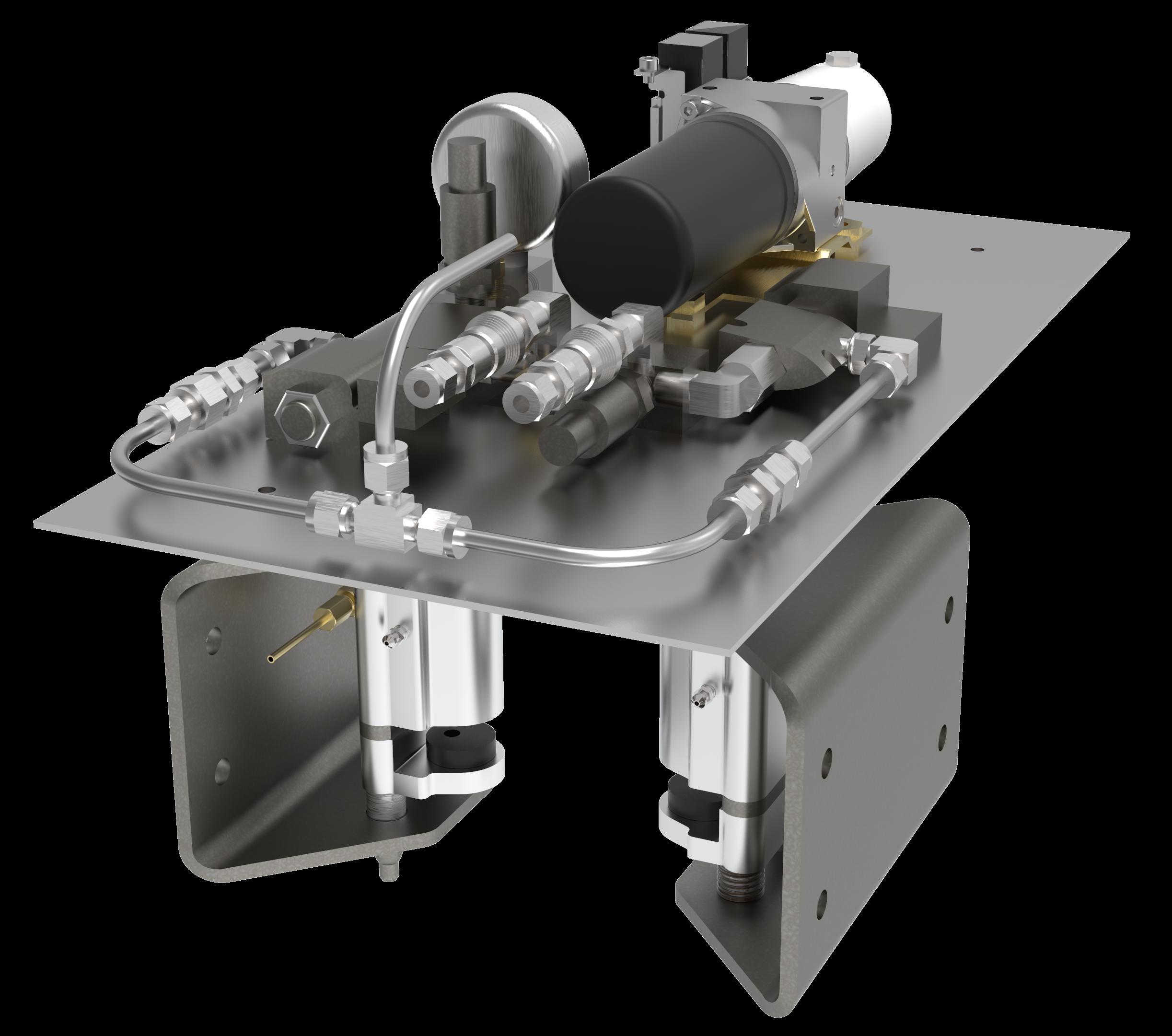 render of the braking system