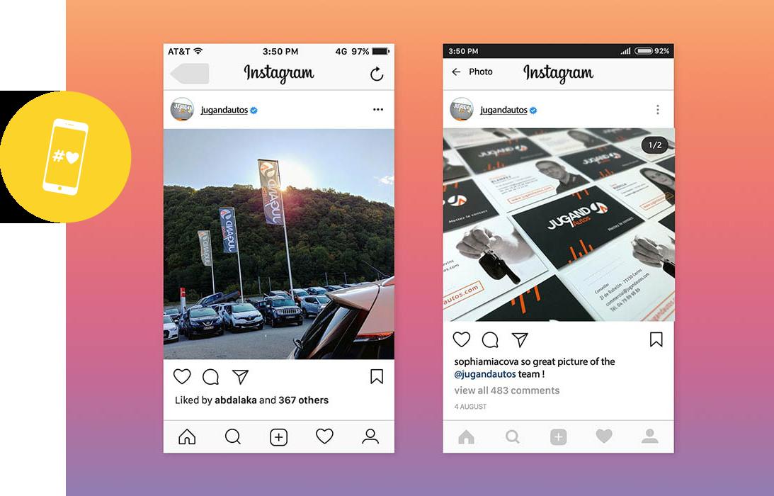 réseaux sociaux - naoms - création contenus - visibilité - digital - gestion - facebook - instagram - linkedin - visuels