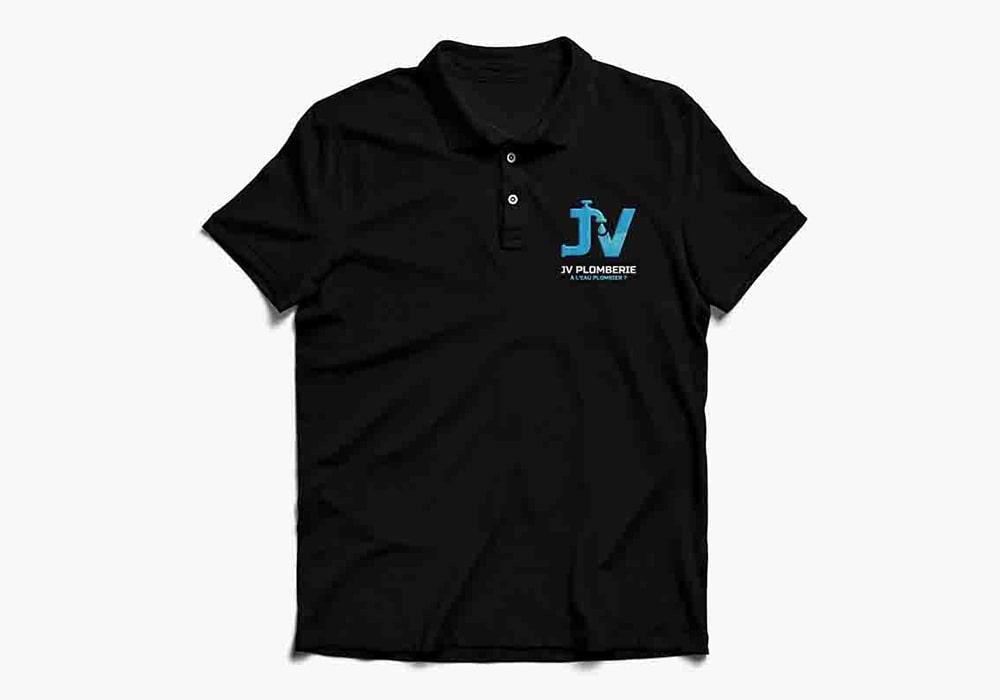 Naöms jv plomberie broderie t-shirt