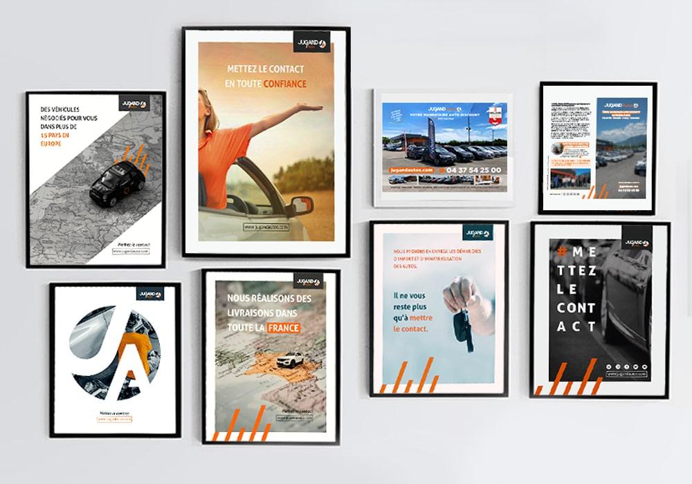 Naöms jugand autos affiche showroom publicité