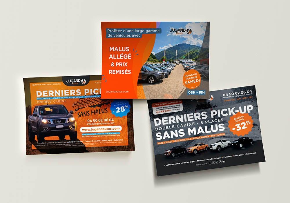 Naöms jugand autos flyer publicité