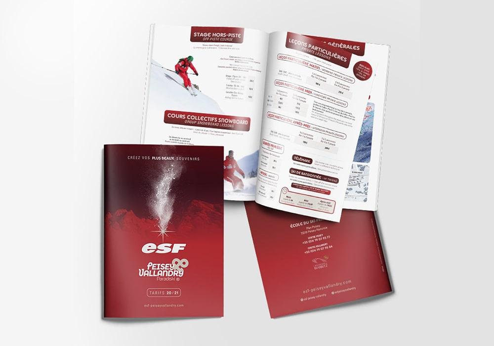 Naöms ESF stations magazine brochure
