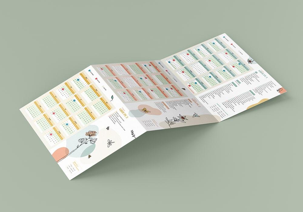Naöms Savoie-biblio calendrier dépliant communication