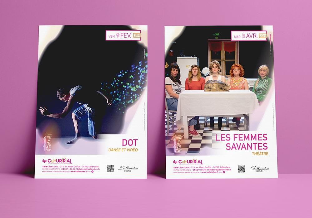 Naöms sallanches culturral 2017-2018 programme culturel saison culturelle affiche bâche