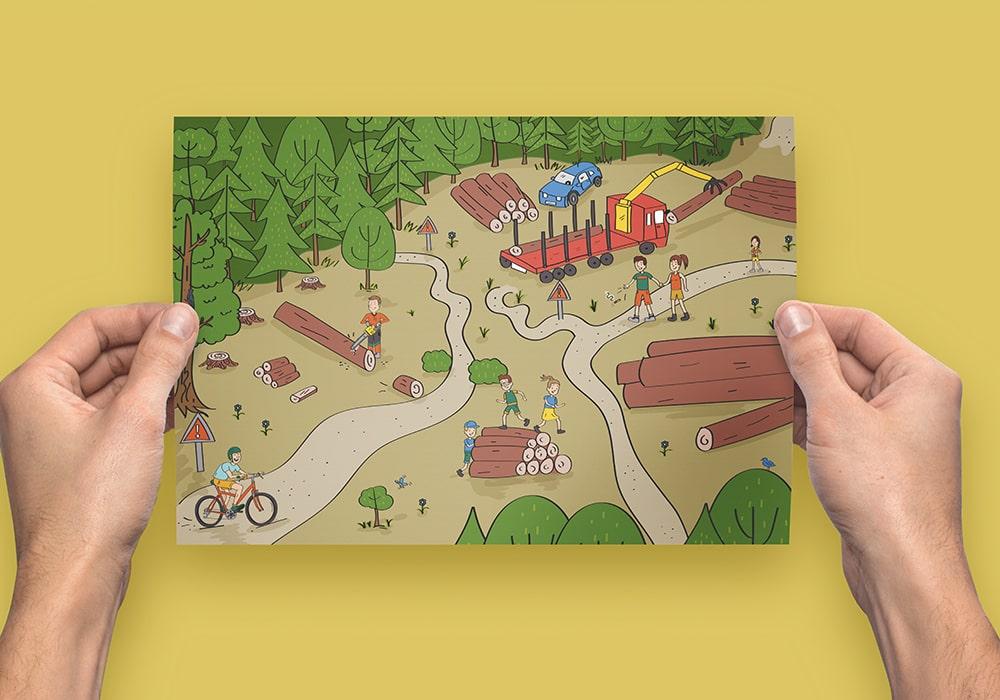 Naöms édition jeunesse illustrations parc des bauges forêt