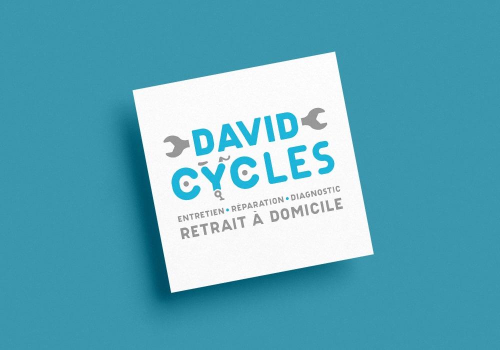 Naöms graphiste communication Albertville logo david cycles réparation de vélo à domicile