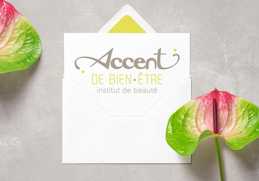Naöms graphiste communication Albertville logo accent de bien-être albertville