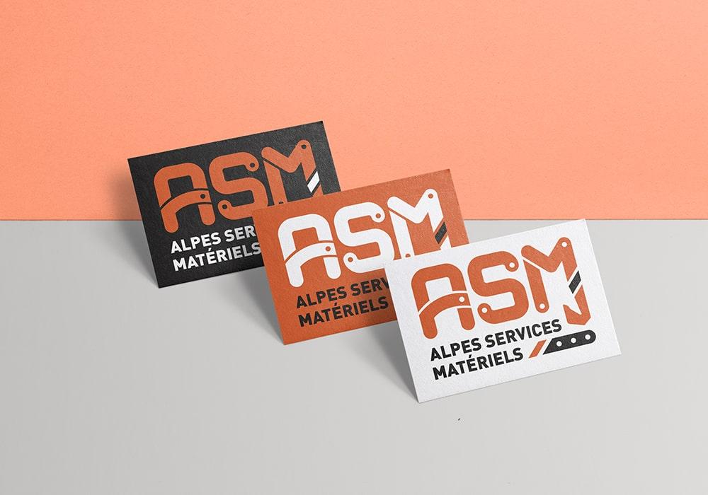 Naöms graphiste communication Albertville logo alpes services matériels savoie