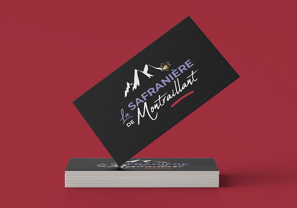 Naöms graphiste communication Albertville logo la safranière de montraillant