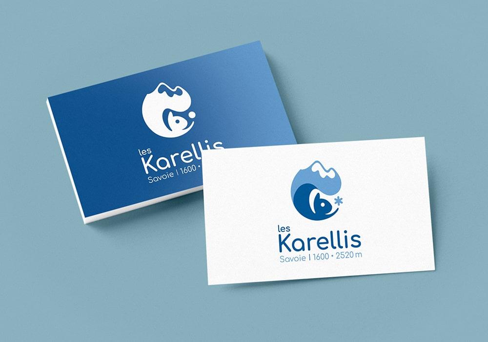 Naöms graphiste communication Albertville logo les karellis