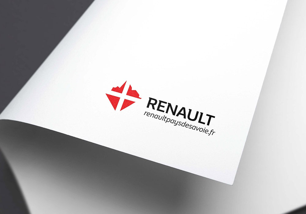 Naöms graphiste communication Albertville logo renault pays de savoie