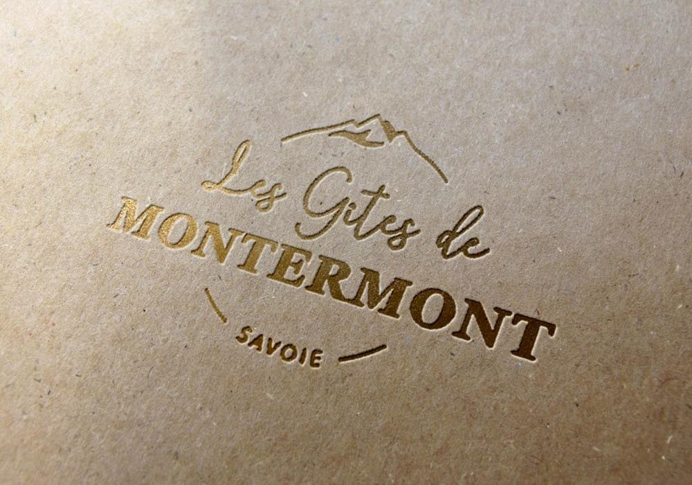 Naöms graphiste communication Albertville logo les gites de Montermont Savoie