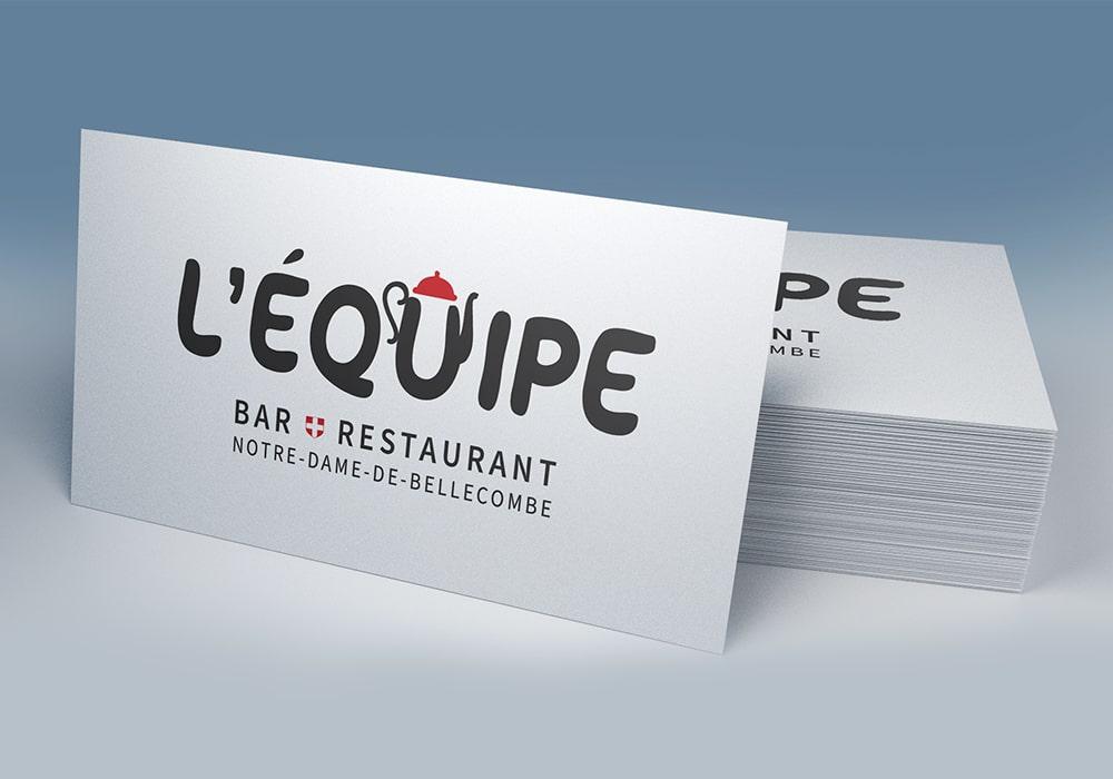 Naöms graphiste communication Albertville logo l'équipe bar restaurant