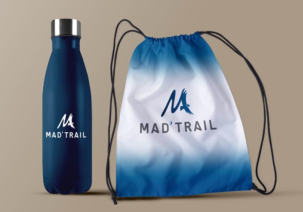 Naöms graphiste communication Albertville logo mad'trail évènement sportif