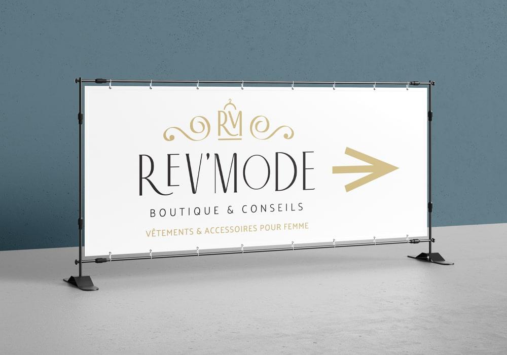 Naöms Rev'Mode logo identité visuelle